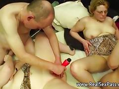 Granny Orgies videos. Granny orgy with anal creampies eaten