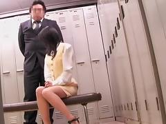 Director fucks an asian student in japanese voyeur movie