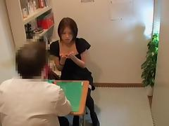 Adorable Jap in stockings slammed during medical exam