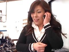 Japanese milf is going to enjoy a hard penis in her holes