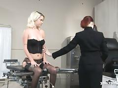 Kissy Kapri gets her ass pounded hard by a lewd doctor