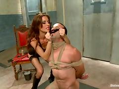 Gorgeous Gia Dimarco enjoys playing BDSM games with Jason Miller