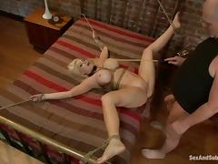 Big breasted housewife gets bounded and pounded