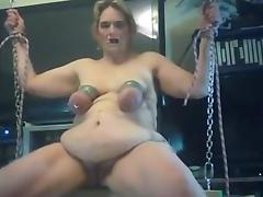 rides her swing and cumms