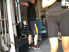 Naughty perv guy in the gym