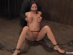 Even a ball gag can't suppress the passion of Amber Rayne
