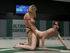 Rough catfight with Aiden Ashley and Rain DeGrey