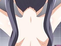 Hentai cutie in swimsuit gets fucked
