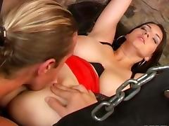 Different way of sex for a hot brunette