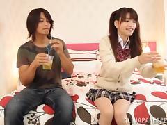 Rina Osawa Japanese teen enjoys hardcore sex