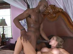Awesome blonde is swallowing giant loads