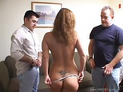 Mouthwatering Honey White Goes Really Hardcore With Two Men