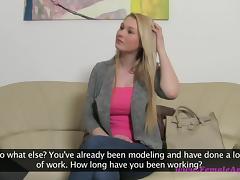 Blonde hottie Antonya on her first porn interview