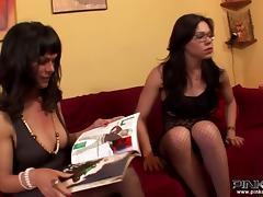 PinkoShemales Video: Big Tits Shemale Threeway