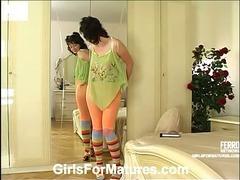 Christie and Melanie mature in lesbian