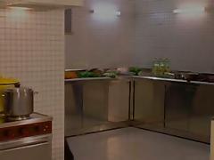 All-male Threesome at the Prison Kitchen