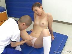 Mouthwatering Natsumi Inagaw Goes Hardcore In The Gym