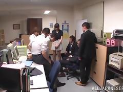 Nasty office lady Mihono Sakaguchi gets a massive cumshot load