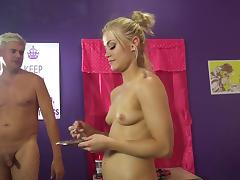 Hardcore threesome with porn hotties Ash Hollywood and Farrah Flower