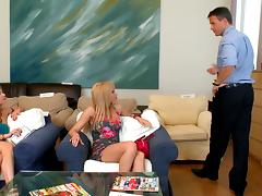 Cindy Hope & Aleska Diamond share a cock and get their holes creampied