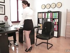 Valentina Nappi rides a cock and gets cum on her natural tits