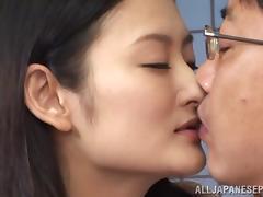Insatiable Asian milf Risa Murakami in hot threesome banging
